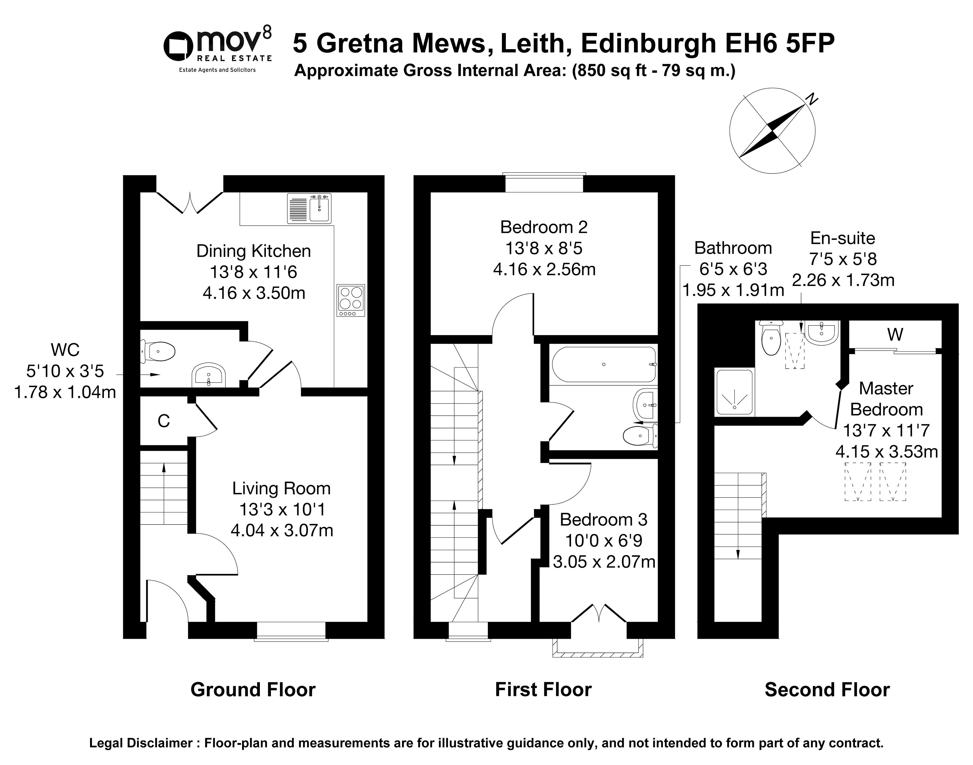 Floorplan 1 of 5 Gretna Mews, Leith, Edinburgh, EH6 5FP