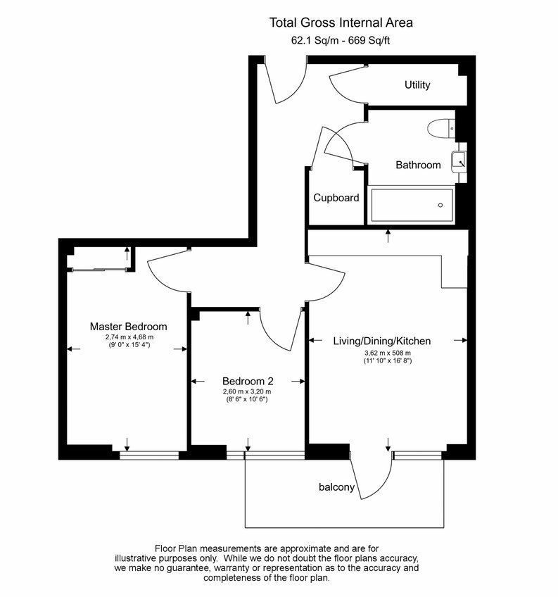 2 bedroom(s) apartment to sale in Victory Parade, Woolwich, London-Floorplan