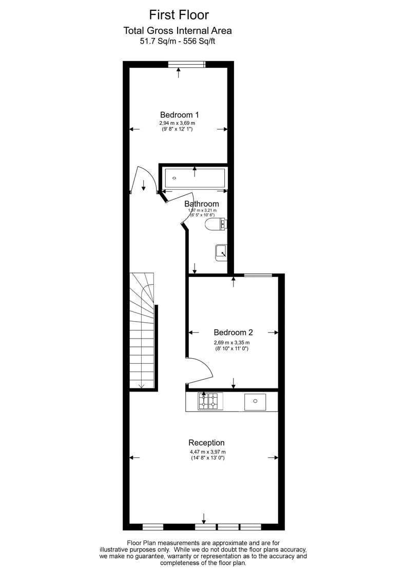 2 bedroom(s) apartment to sale in Third Avenue, Manor Park-Floorplan