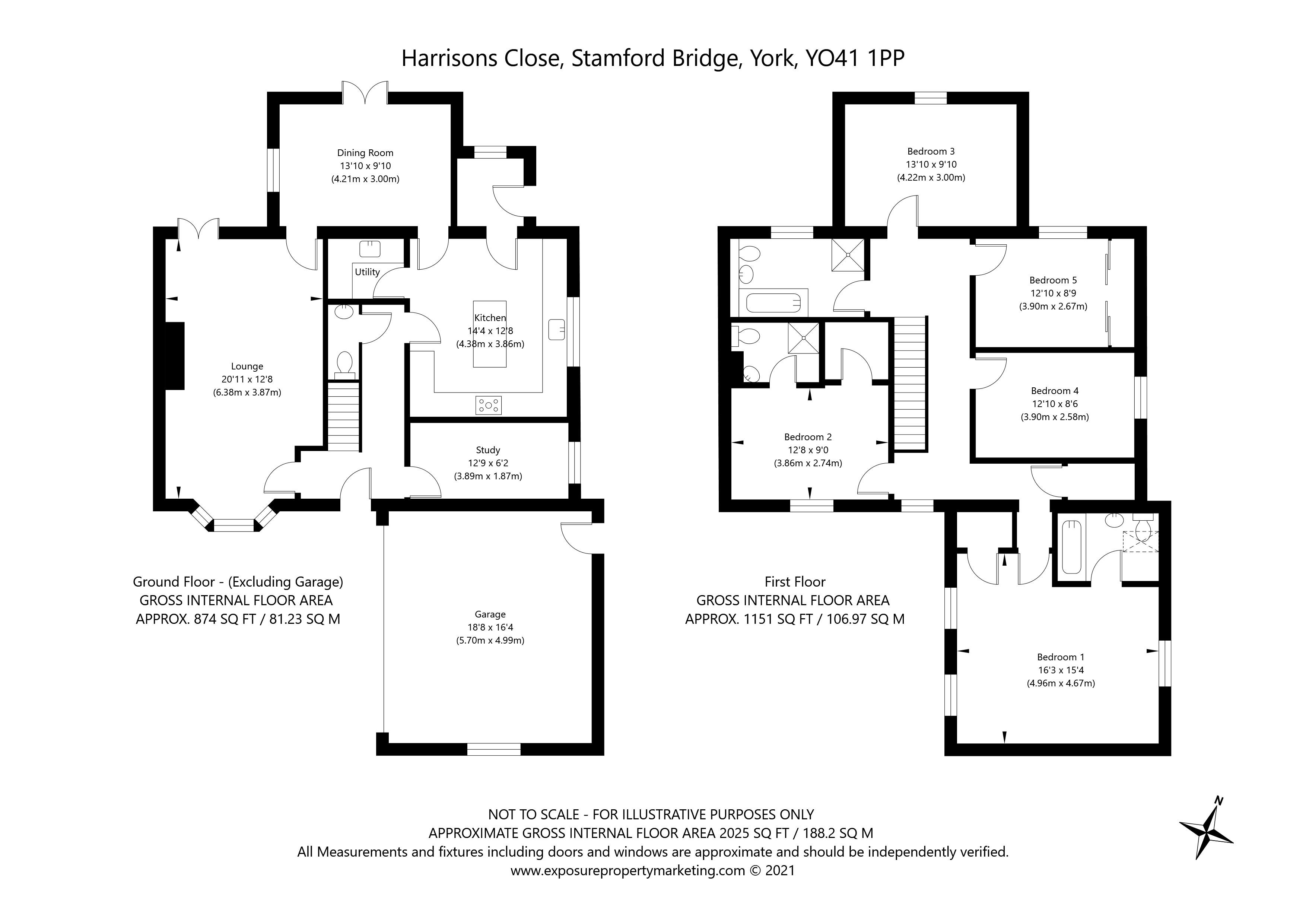 Harrisons Close, Stamford Bridge, York property floorplan