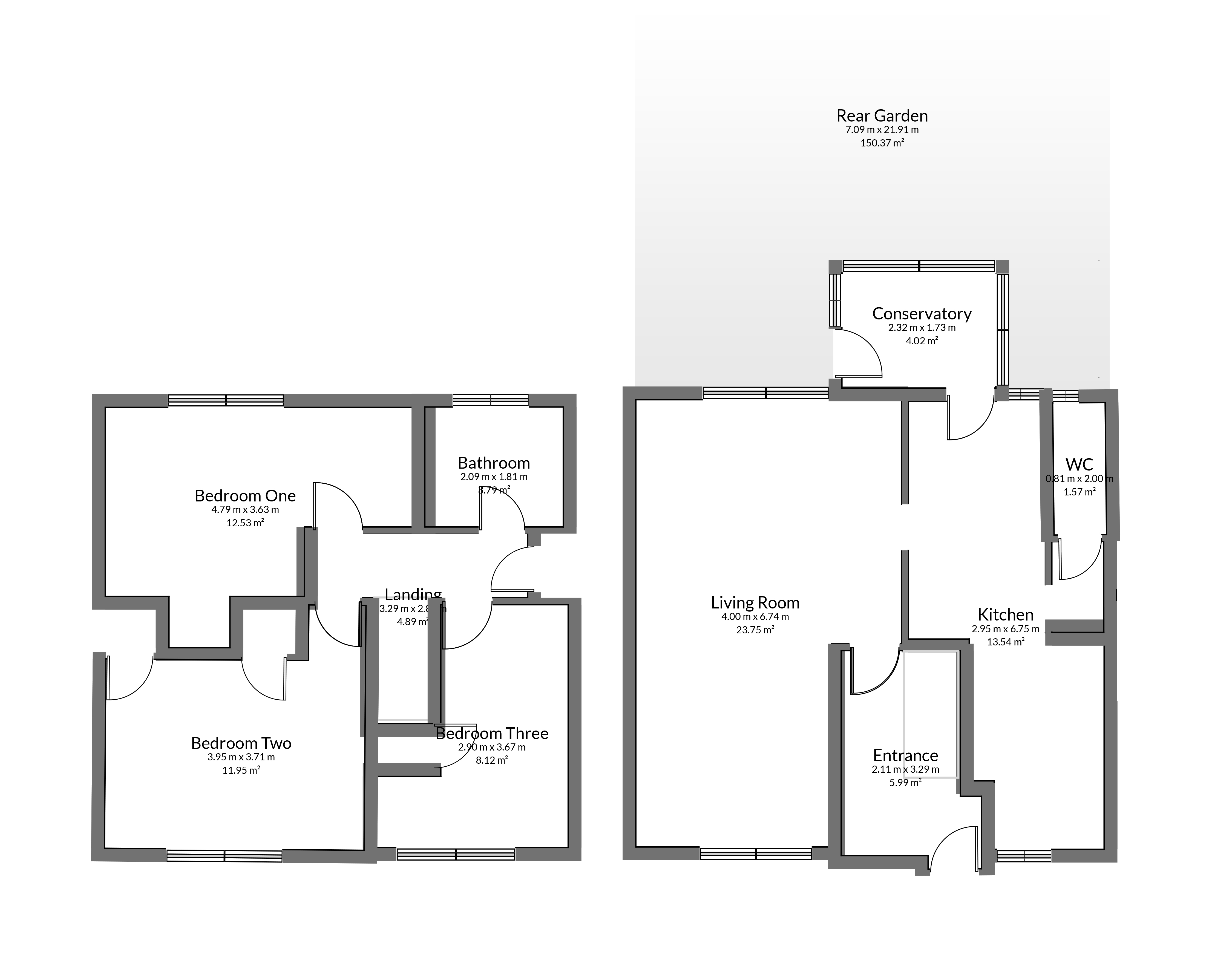 Floorplan for Windsor Drive, Yate.