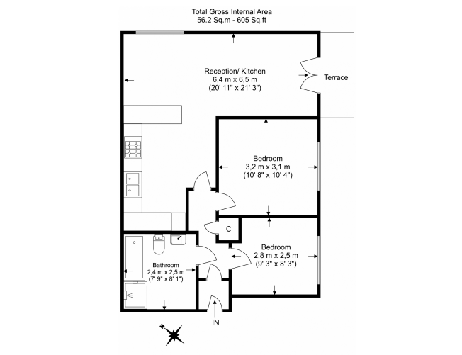 2 bedroom(s) apartment to sale in Sixpenny Court, Tanner Street, Barking-Floorplan