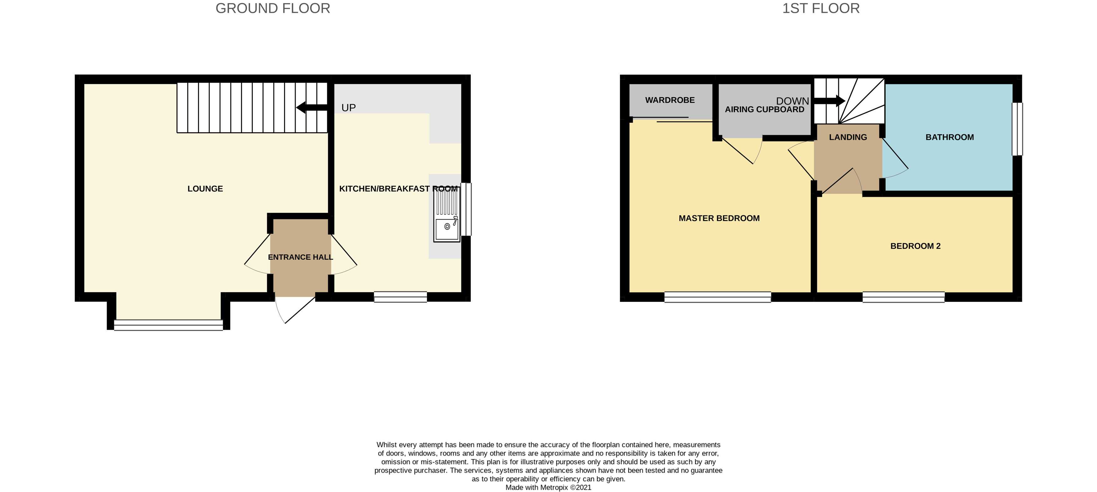 Floorplan for Longs Drive, Yate.
