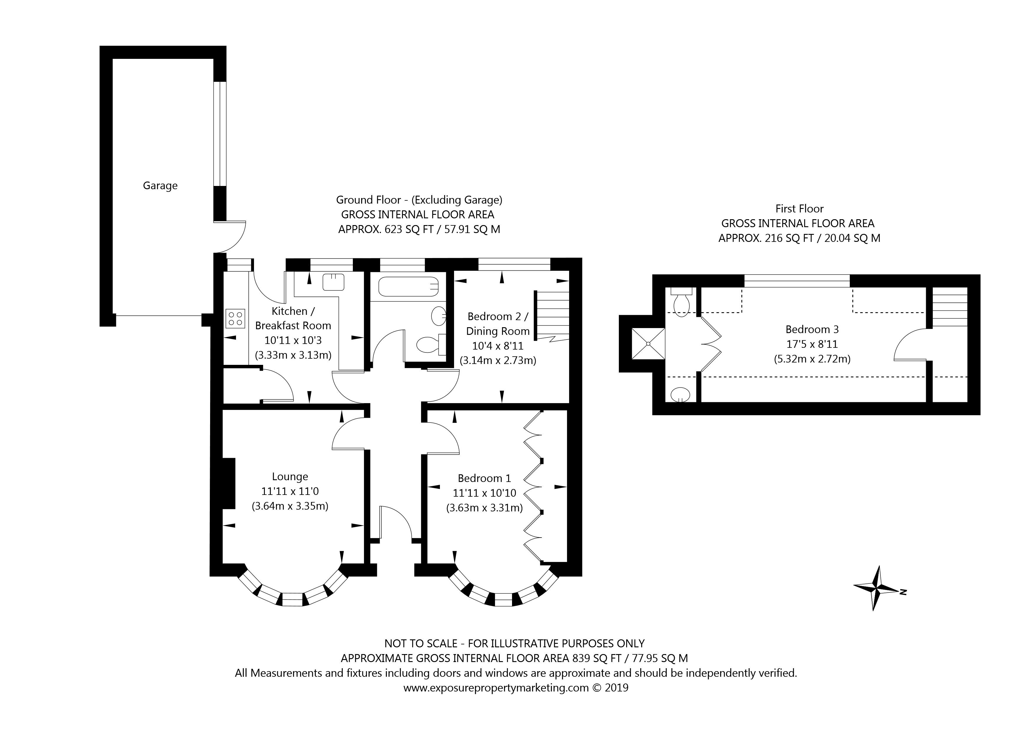 Canham Grove, Osbaldwick, York property floorplan