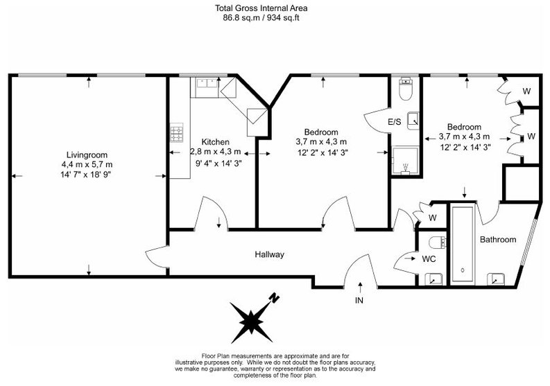 2 bedroom(s) apartment to sale in Park Mansions, Knightsbridge-Floorplan