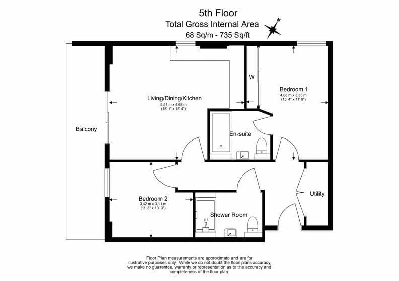 2 bedroom(s) apartment to sale in Cadmus Court, Seafarer Way, Surrey Quays, London-Floorplan