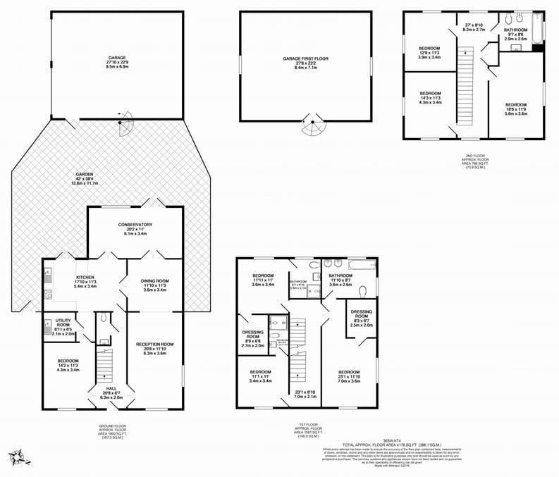 6 bedroom(s) house to sale in Sherbrooke Way, Surrey, Worcester Park-Floorplan