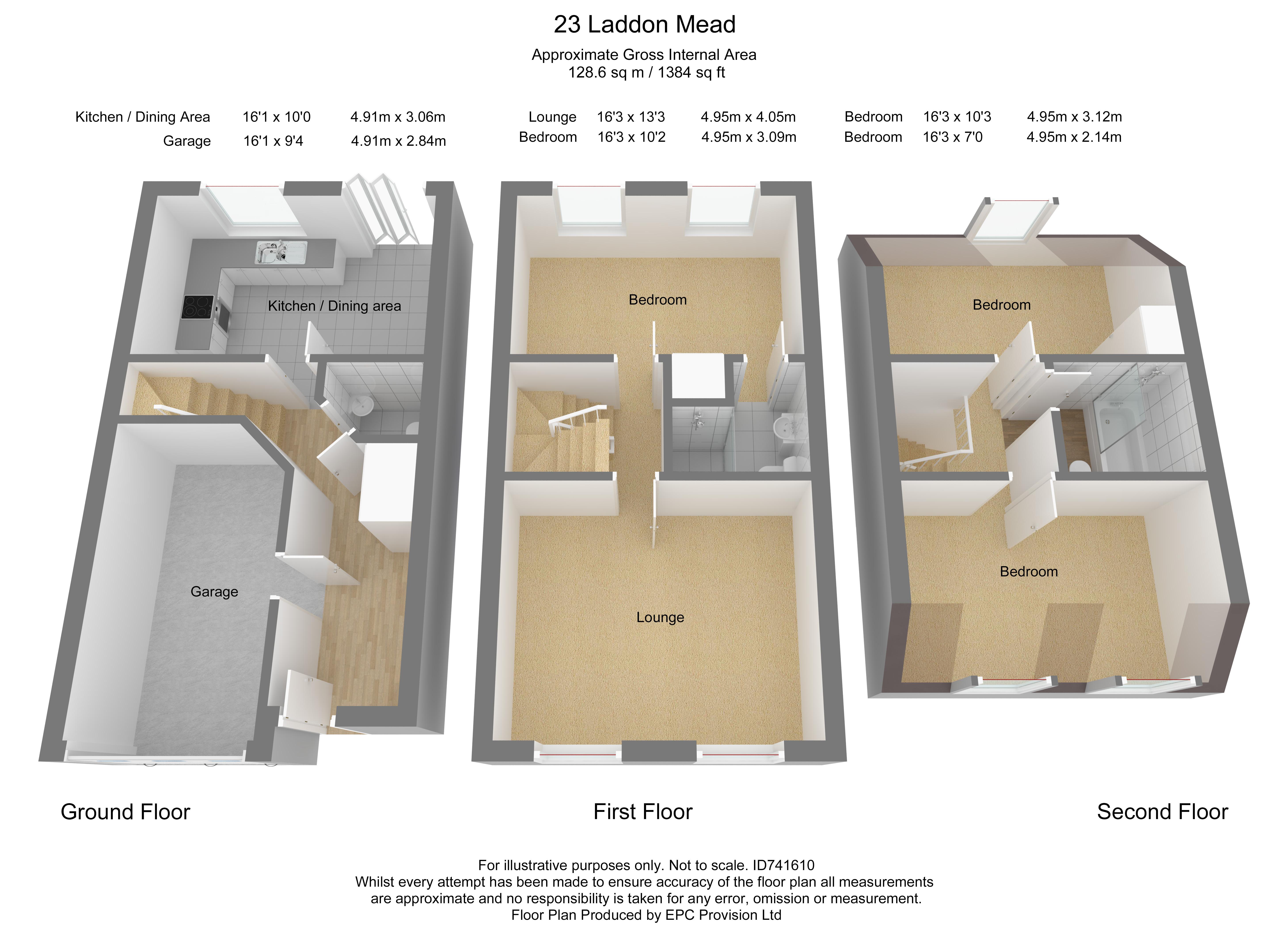 Floorplan for Laddon Mead, Yate.