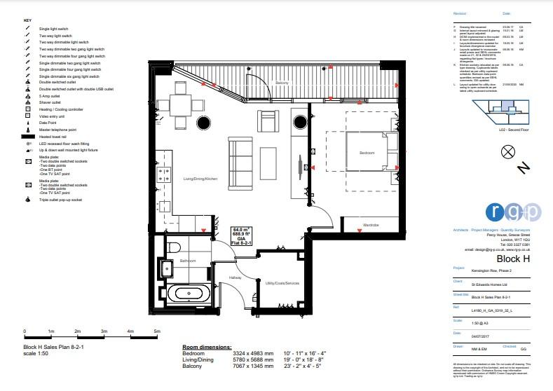 1 bedroom(s) apartment to sale in Sherrin House, Royal Warwick Square, Kensington-Floorplan