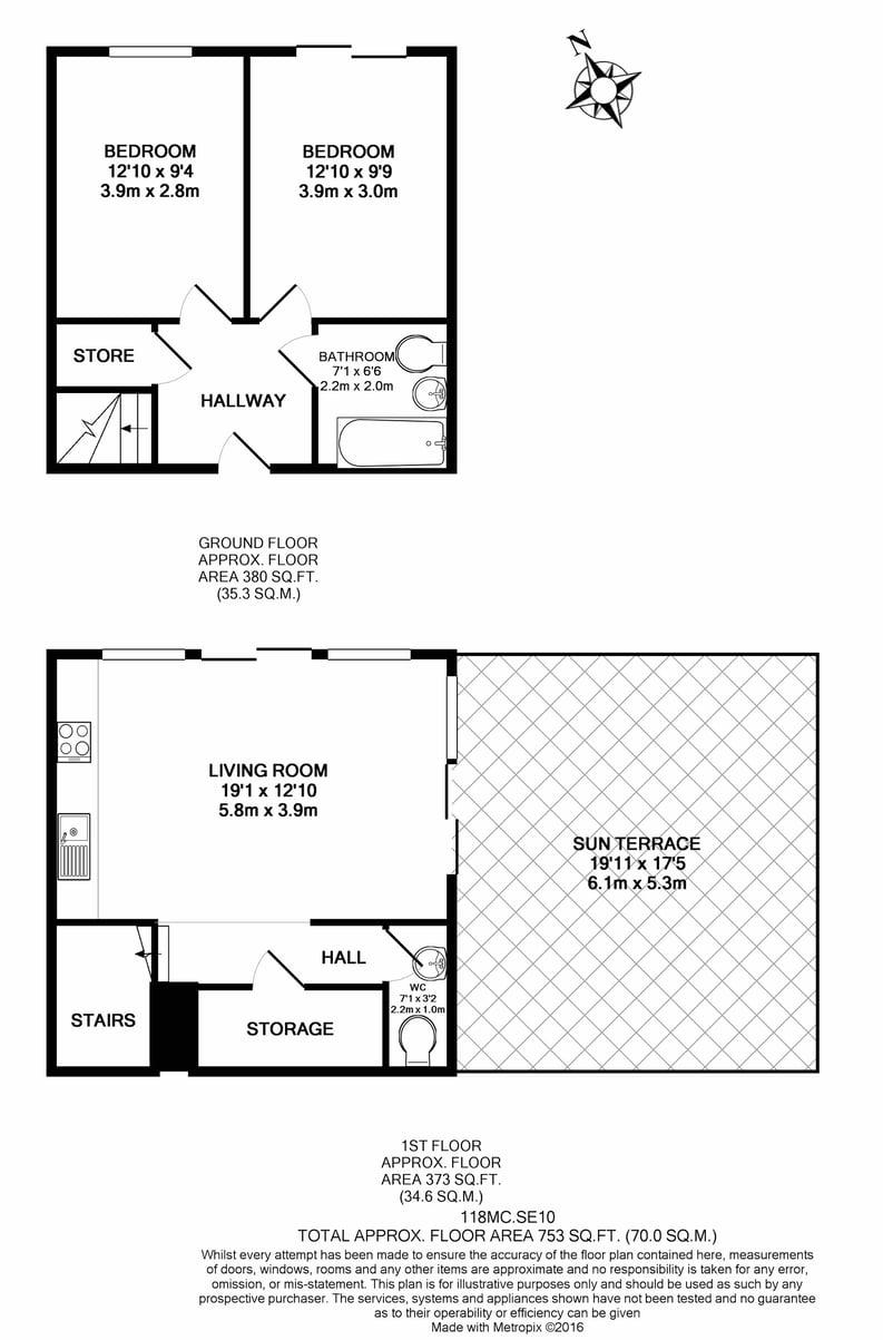 2 bedroom(s) apartment to sale in Metcalfe Court, John Harrison Way, Greenwich Millennium Village, Greenwich-Floorplan