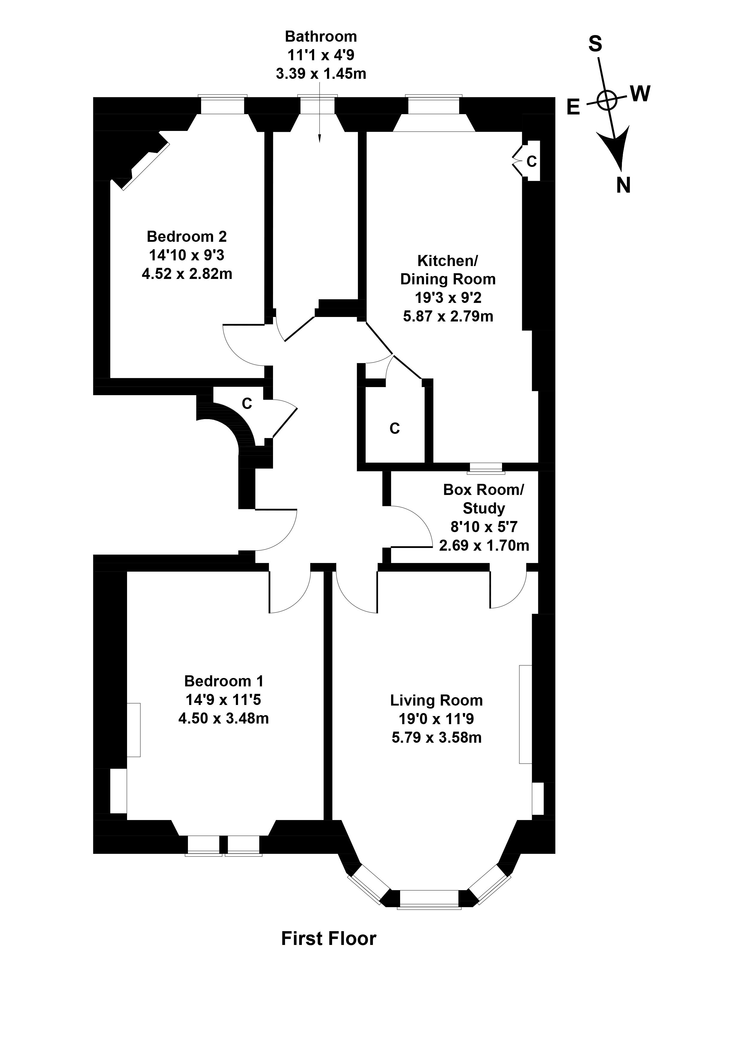 Floorplan 1 of 1f1, 5 Comiston Gardens, Comiston, Edinburgh, EH10 5QH