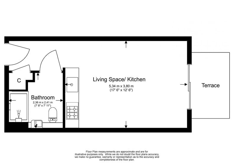 Studio apartment to sale in Boulevard Drive, Colindale, London-Floorplan