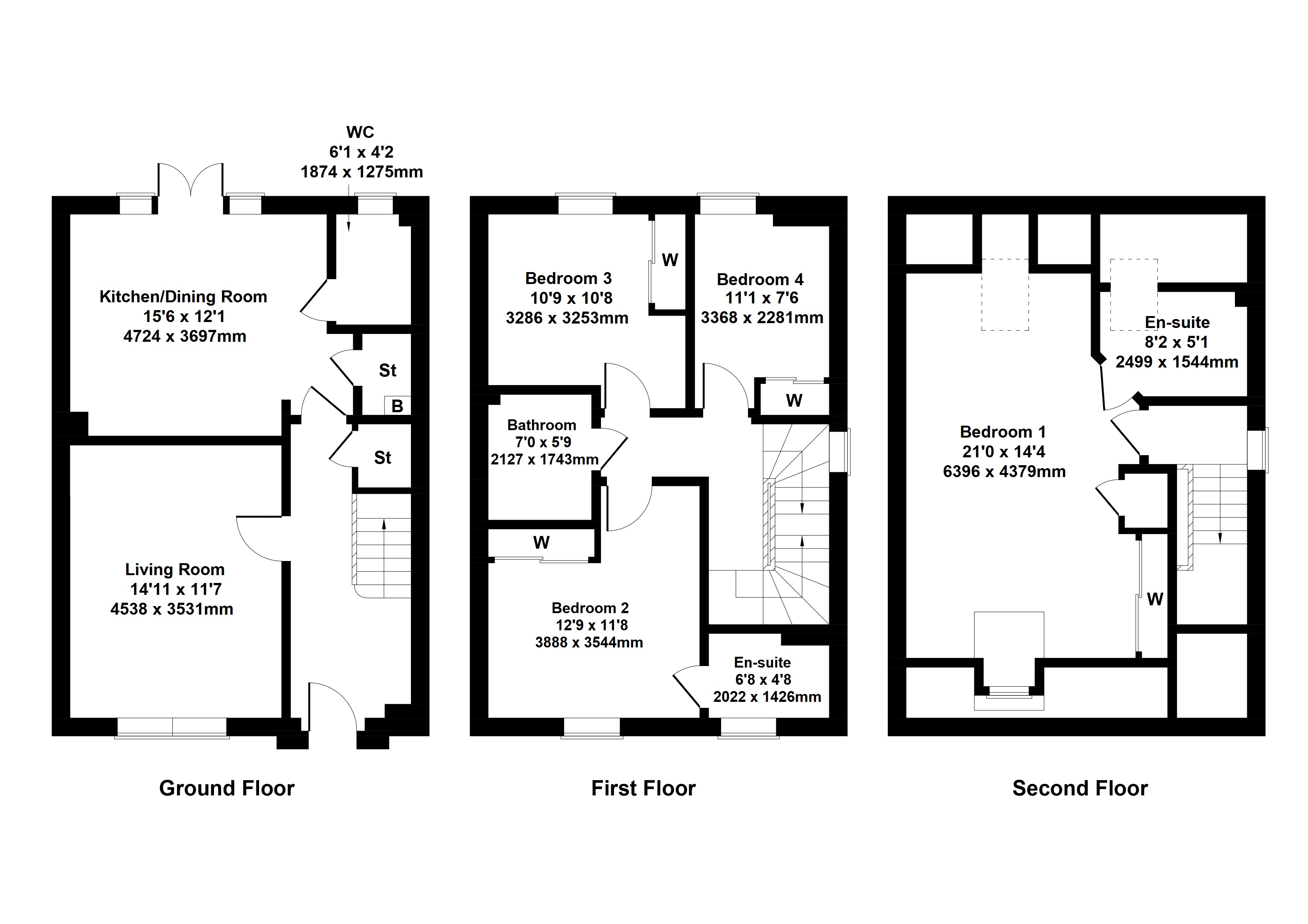Floorplan 2 of The Campsie Barrochan Road, Brookfield, Johnstone, Renfrewshire, PA6 7AA