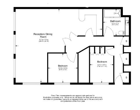 2 bedroom(s) apartment to sale in Wexner Building, 2 Strype Street, Spitalfields-Floorplan