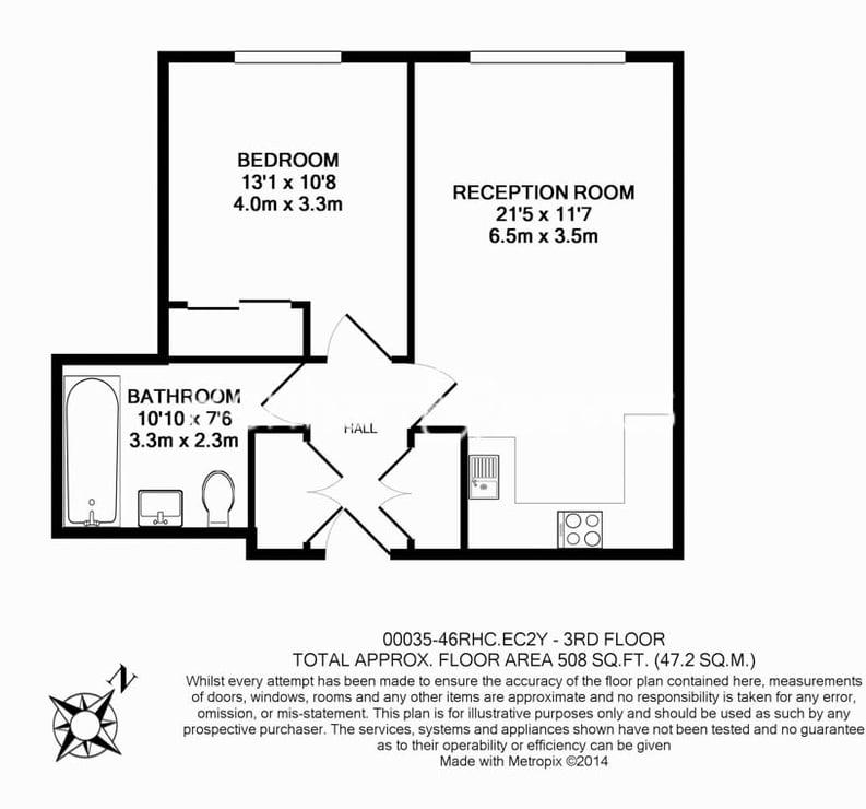1 bedroom(s) apartment to sale in Roman House, Wood Street, Barbican, City Of London-Floorplan