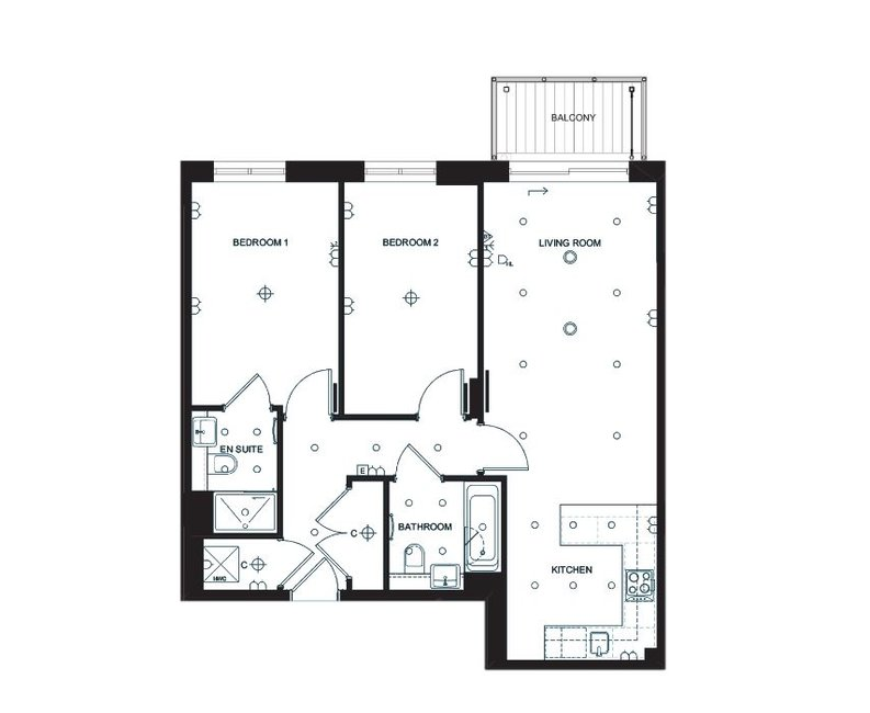 2 bedroom(s) apartment to sale in Constantine House, Beaufort Park , London-Floorplan