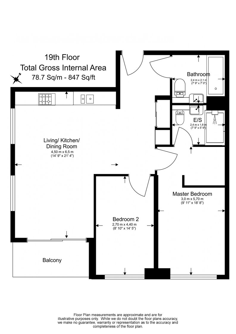 2 bedroom(s) apartment to sale in Hurlock Heights, Deacon Street, Elephant and Castle-Floorplan