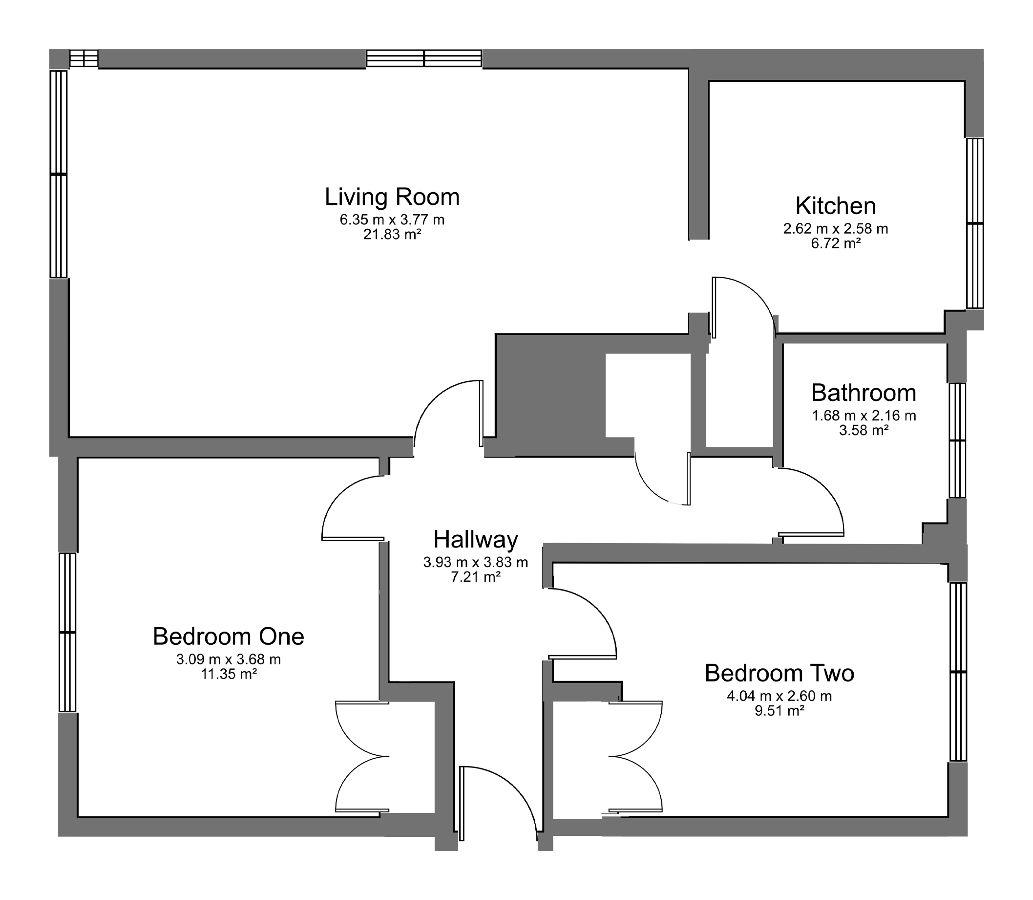 Floorplan for Chargrove, Yate.