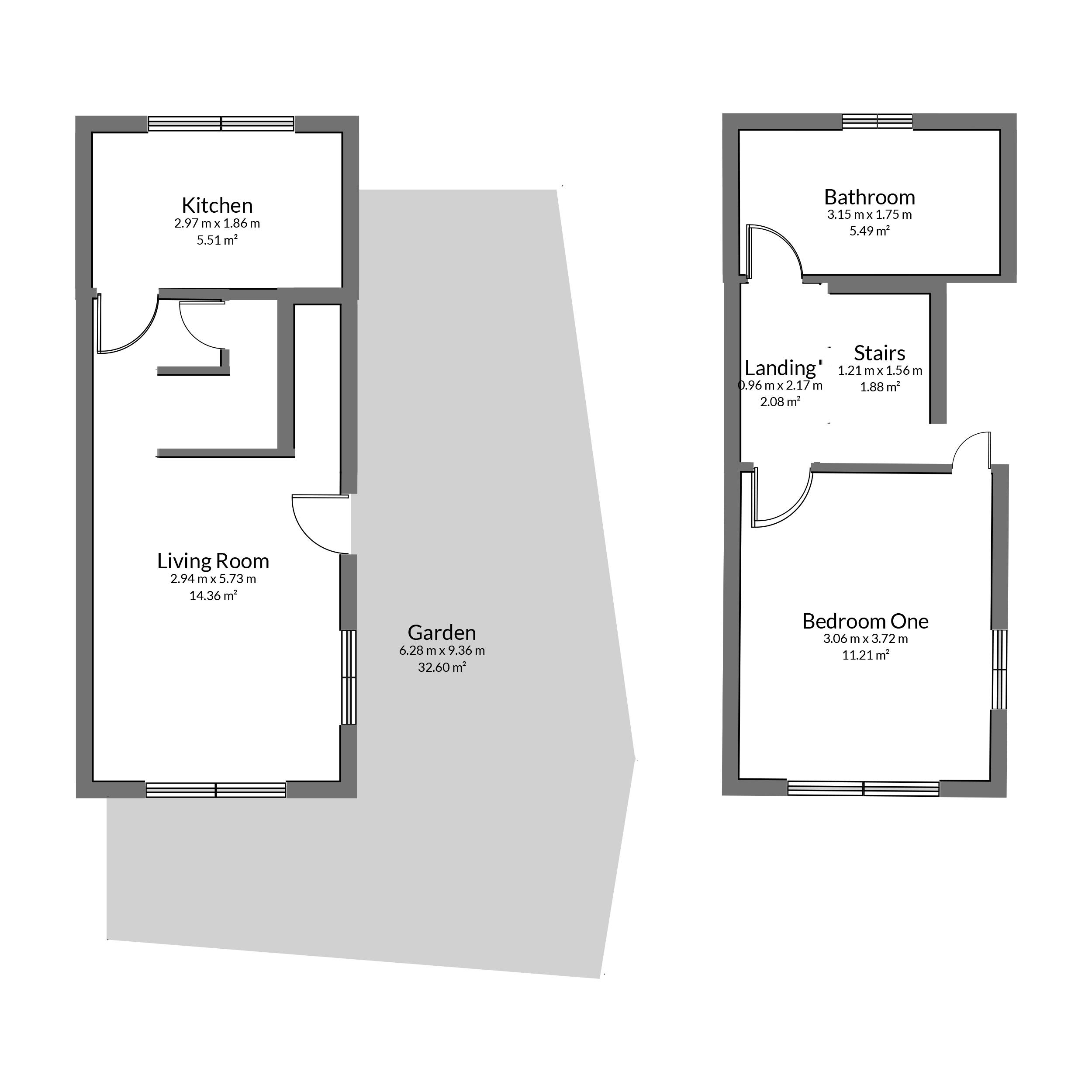 Floorplan for Mercier Close, Yate.