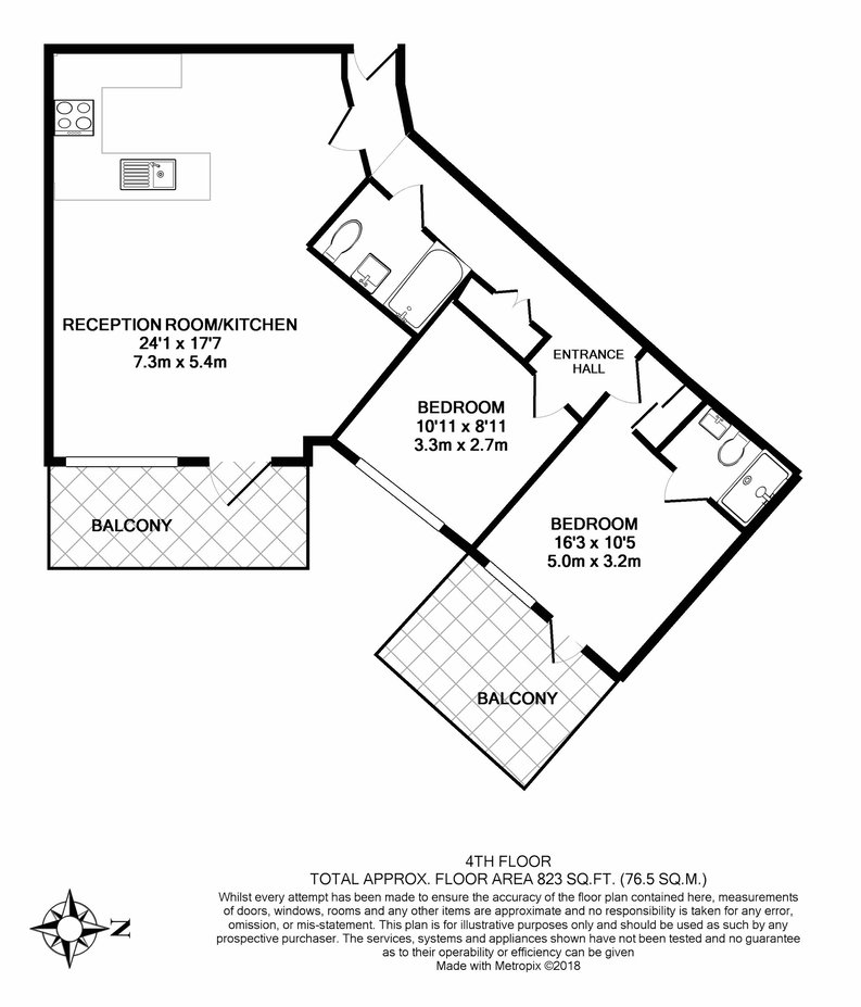 2 bedroom(s) apartment to sale in Lancaster House, Sovereign Court, Hammersmith, London-Floorplan