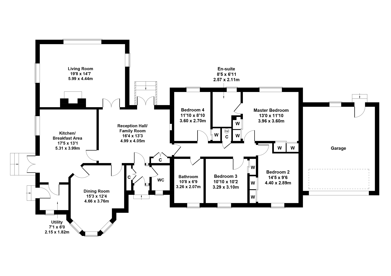Floorplan 1 of 73 Whitecraigs, Kinnesswood, Kinross-shire, KY13 9JN