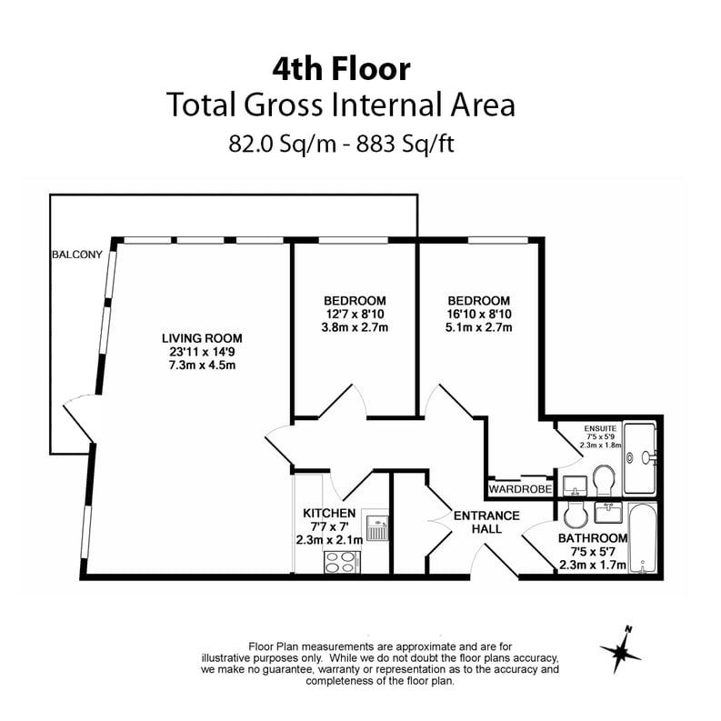 2 bedroom(s) apartment to sale in Skyline House, Dickens Yard, Longfield Avenue , London-Floorplan