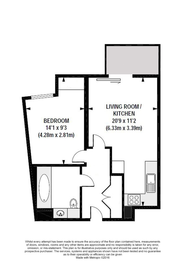 1 bedroom(s) apartment to sale in Goodchild Road, Woodbury Down, London-Floorplan