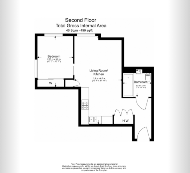 1 bedroom(s) apartment to sale in 3 Lillie Square, Lillie Road, Earl's Court-Floorplan
