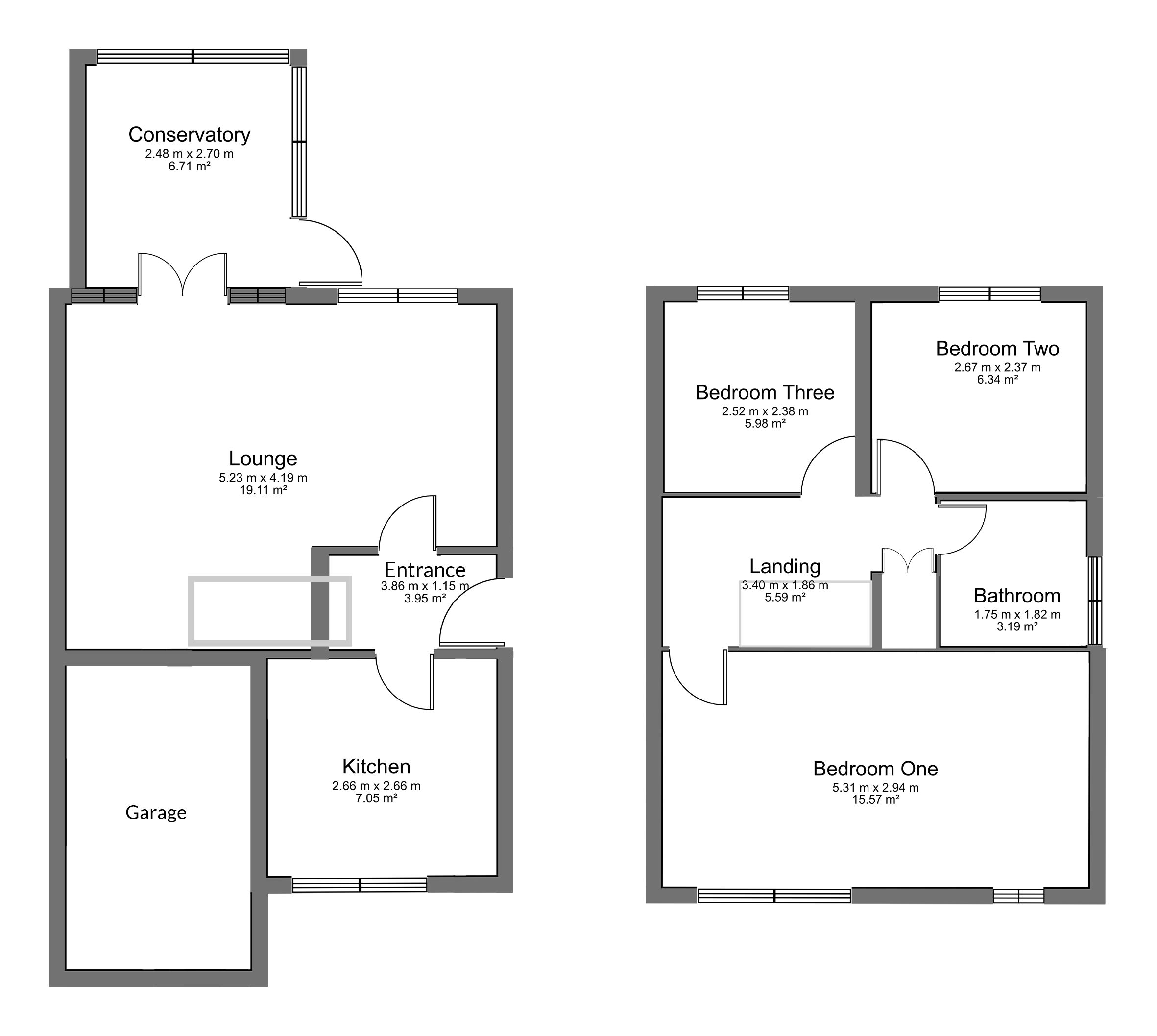 Floorplan for The Willows, Yate.