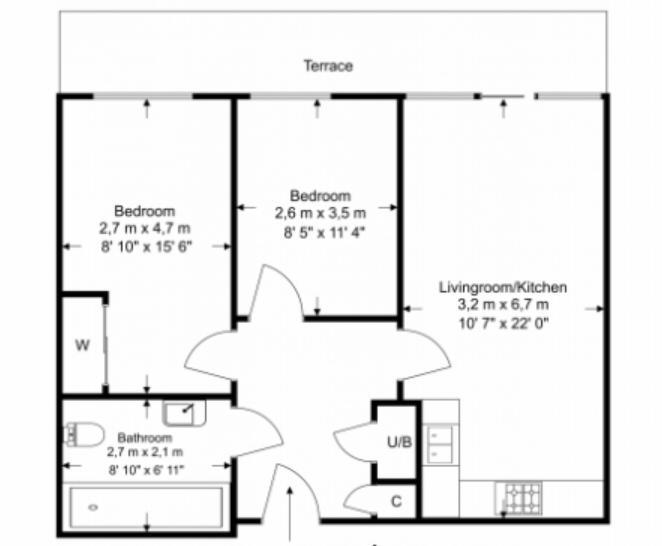 2 bedroom(s) apartment to sale in Napier House, Bromyard Avenue, Acton-Floorplan