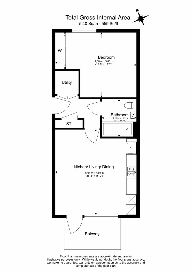 1 bedroom(s) apartment to sale in Yarrow Apartments, 82 Bittacy Hill, Millbrook Park, Mill Hill, London-Floorplan