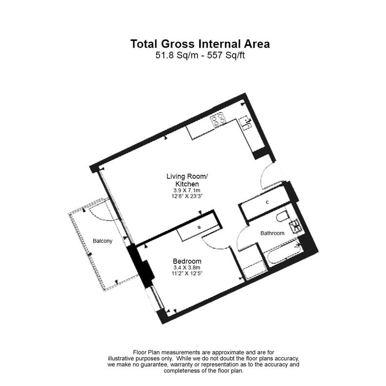 1 bedroom(s) apartment to sale in Kingwood Apartments, 31 Waterline Way, Deptford-Floorplan