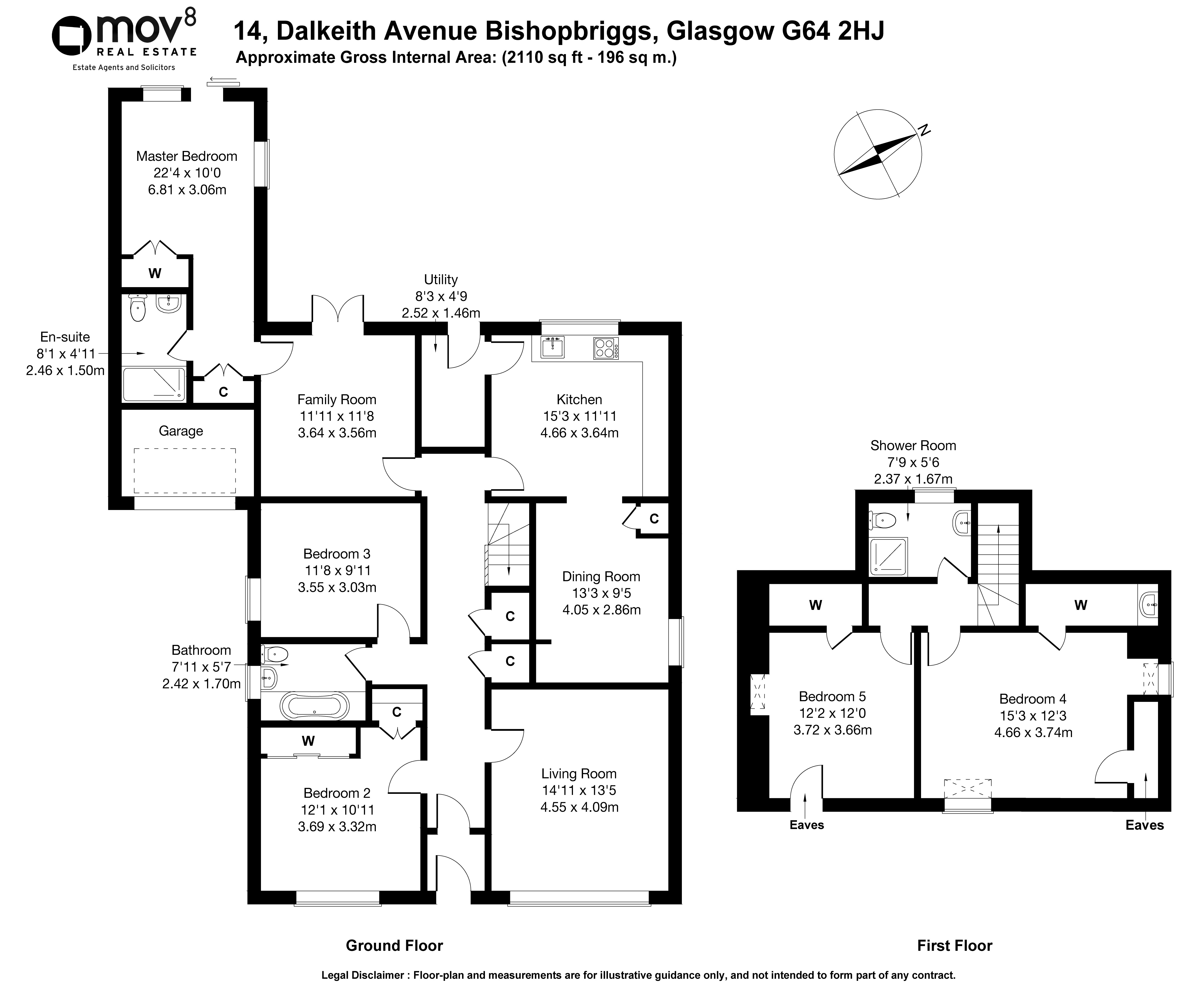 Floorplan 1 of 14 Dalkeith Avenue, Bishopbriggs, Glasgow, East Dunbartonshire, G64 2HJ