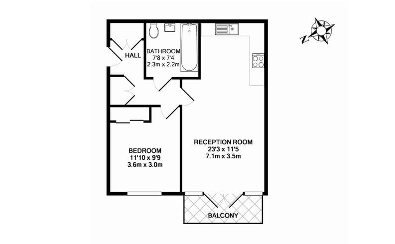 1 bedroom(s) apartment to sale in Havilland Mews, Shepherds Bush, London-Floorplan