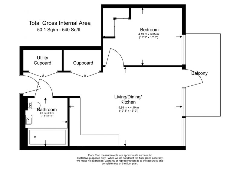 1 bedroom(s) apartment to sale in Compton House, Victory Parade, Plumstead Road, Woolwich-Floorplan