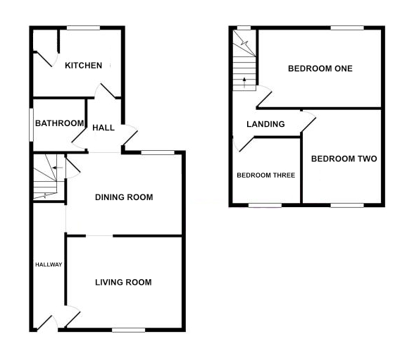 Floorplan for Back Lane, Wickwar.