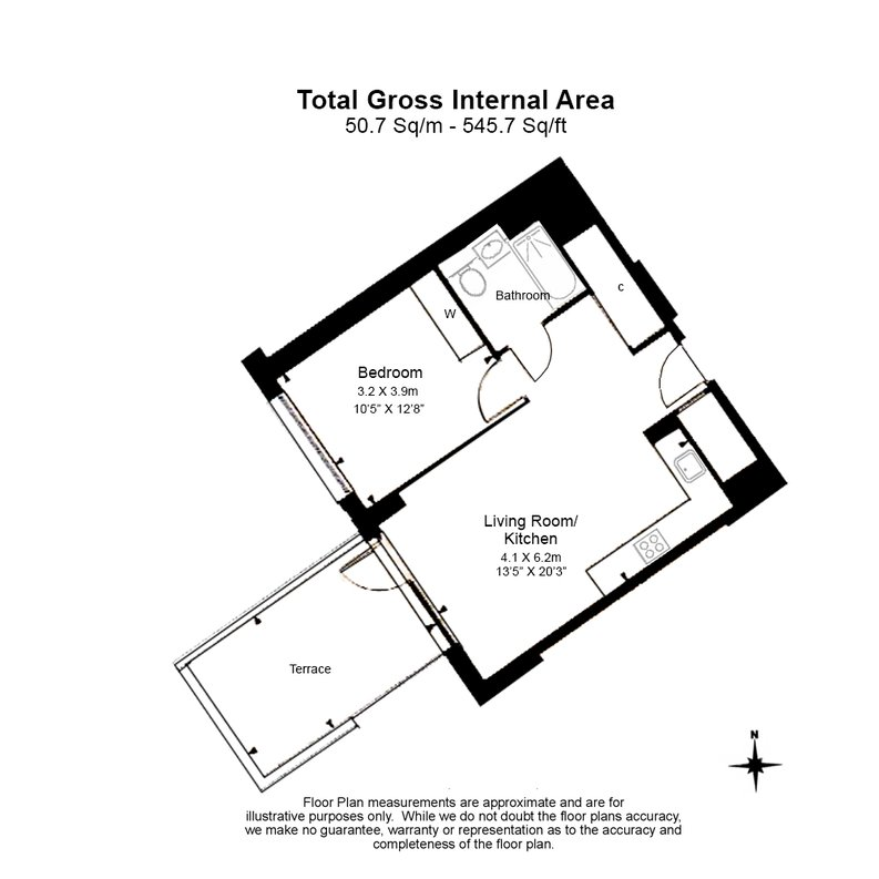 1 bedroom(s) apartment to sale in Meranti Apartments, 167 Grove Street, Deptford-Floorplan
