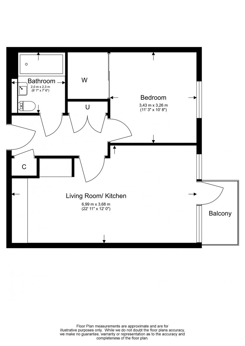 1 bedroom(s) apartment to sale in Heritage Place, Greater London, Brentford-Floorplan