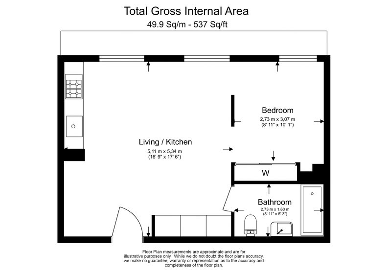 1 bedroom(s) apartment to sale in 50 Bartholomew Close, Barbican, London-Floorplan