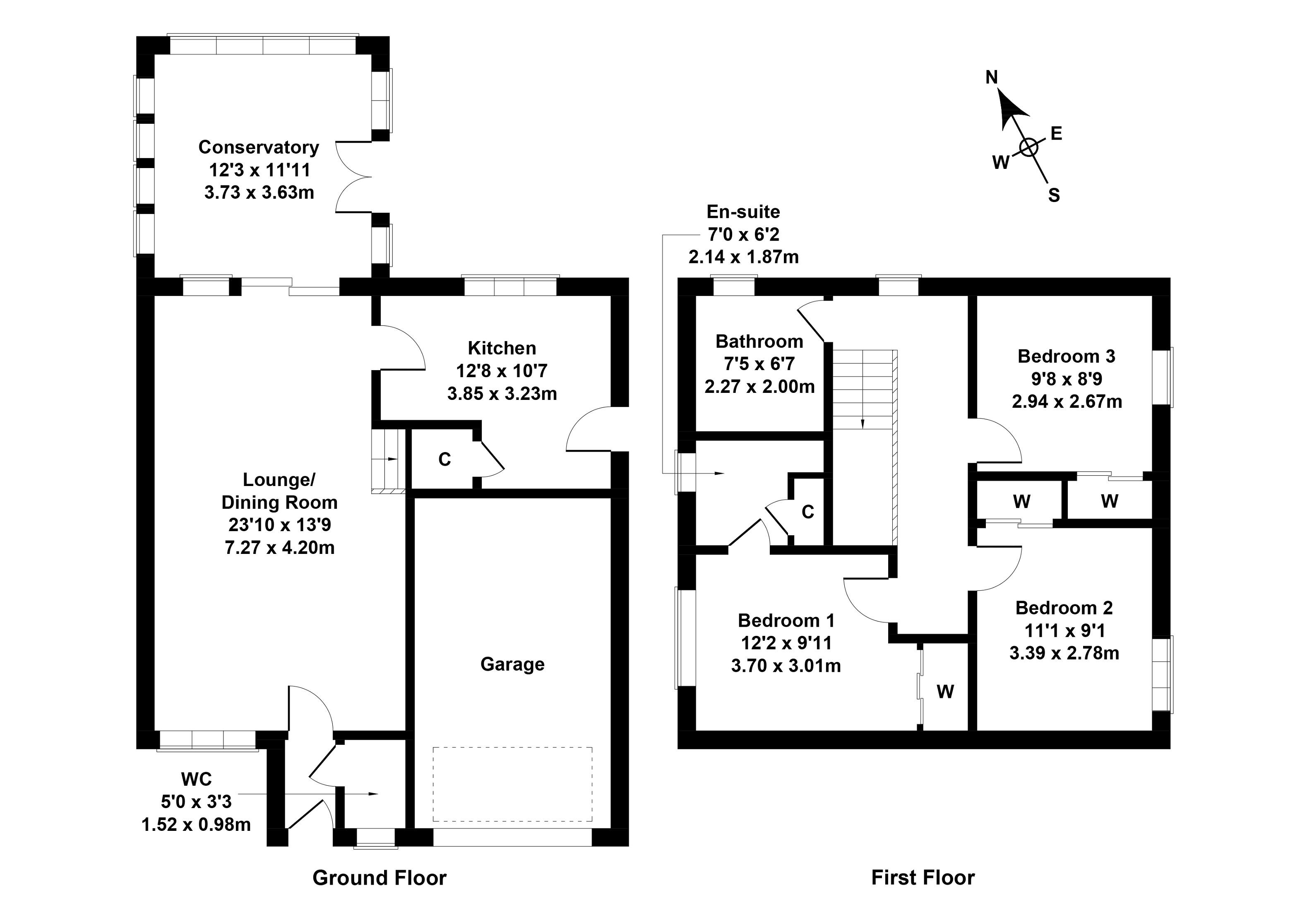 Floorplan 1 of 8 Locher Place, Carnbroe, Coatbridge, North Lanarkshire, ML5 4FL