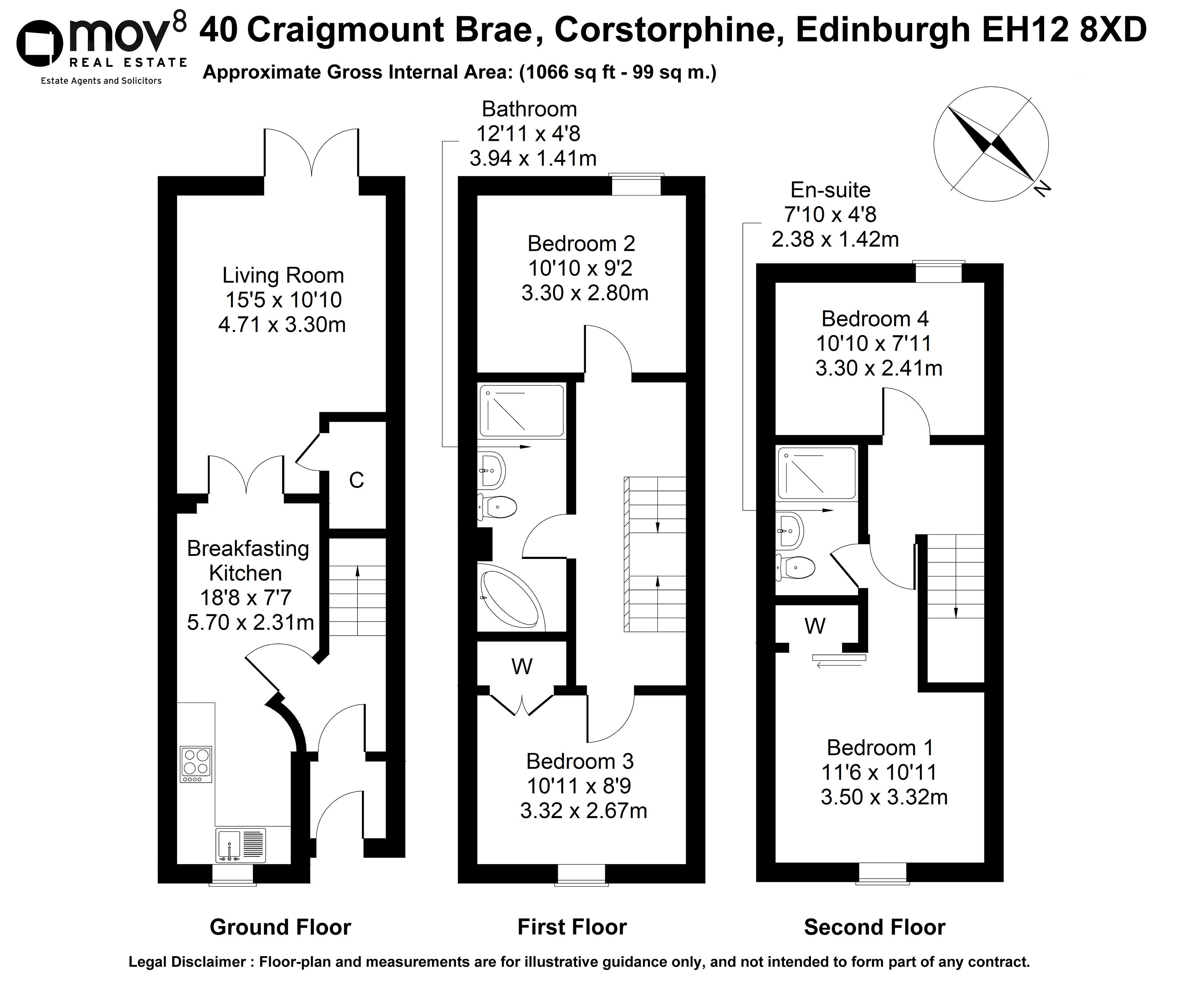 Floorplan 1 of 40 Craigmount Brae, Corstorphine, Edinburgh, EH12 8XD