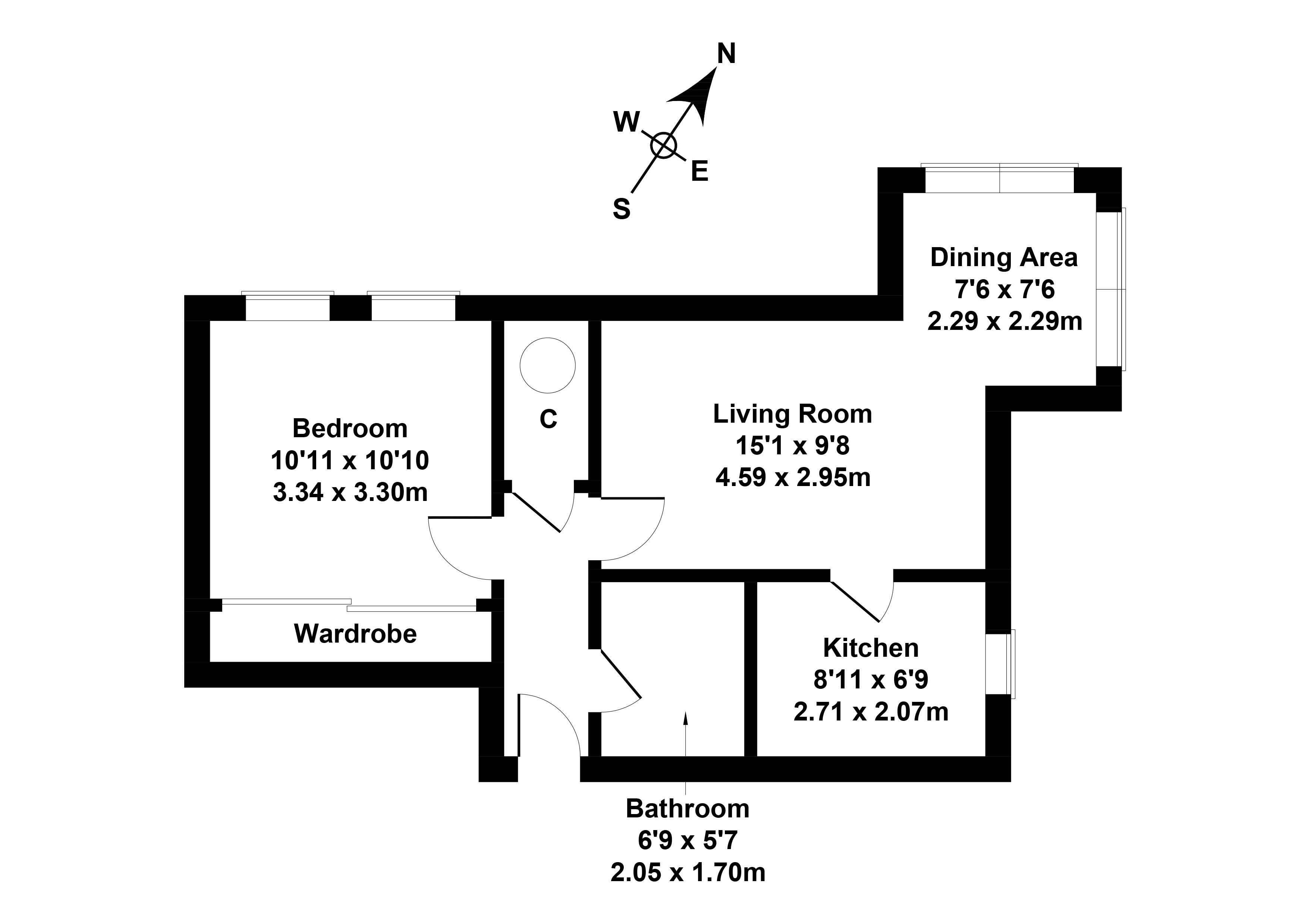 Floorplan 1 of 16/1, Balfour Place, Leith, Edinburgh, EH6 5DW