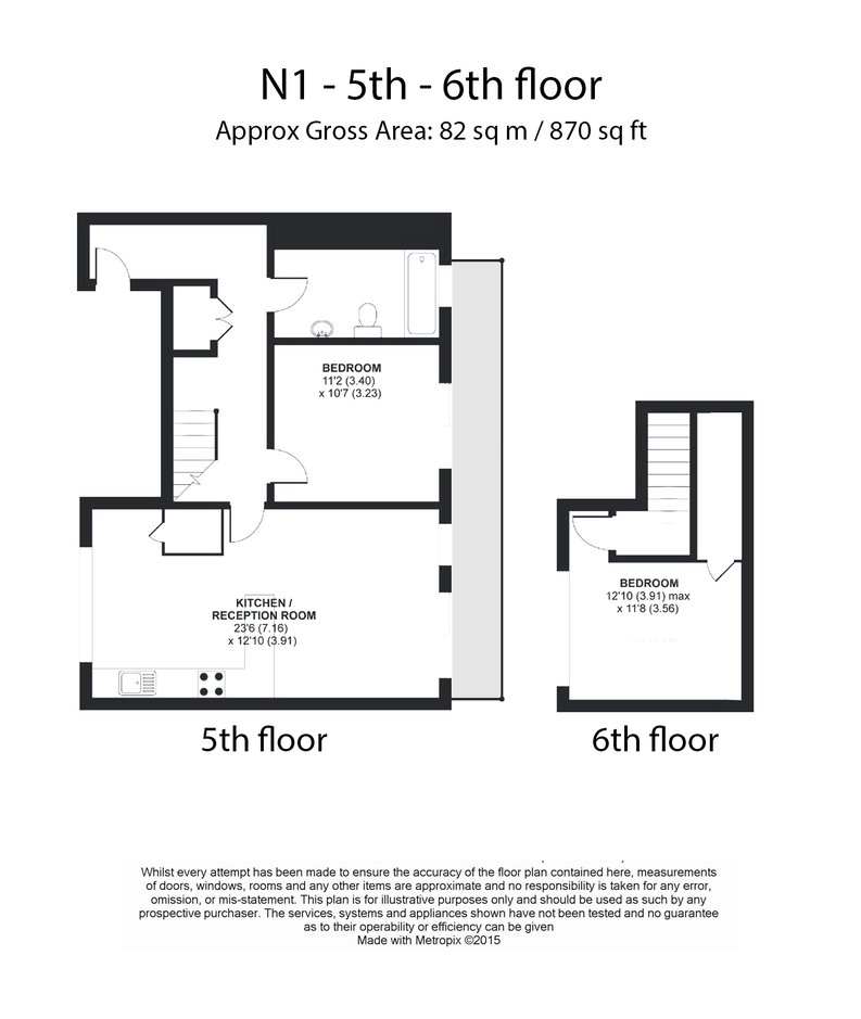 2 bedroom(s) apartment to sale in Westland Place, Hoxton-Floorplan