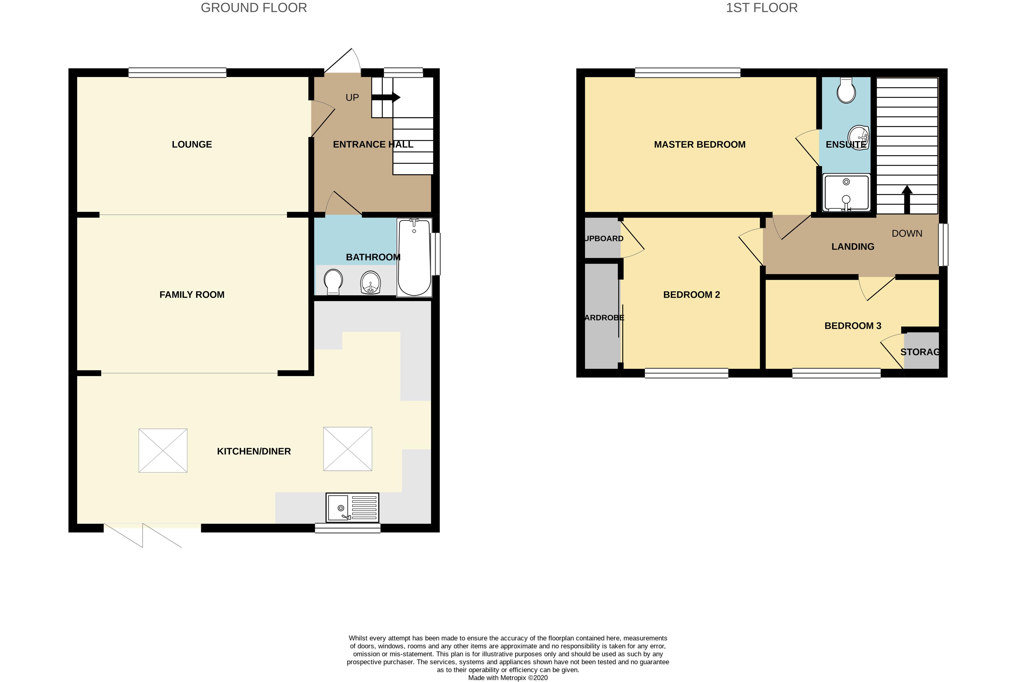 Floorplan for Standish Avenue, Stoke Lodge.