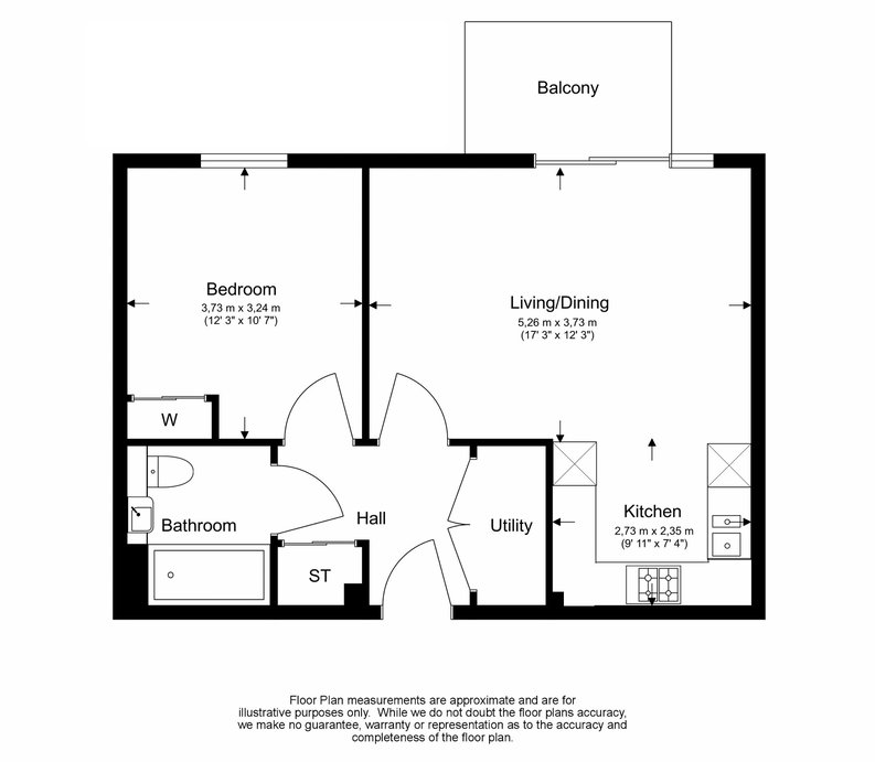 1 bedroom(s) apartment to sale in Moorhen Drive, London-Floorplan
