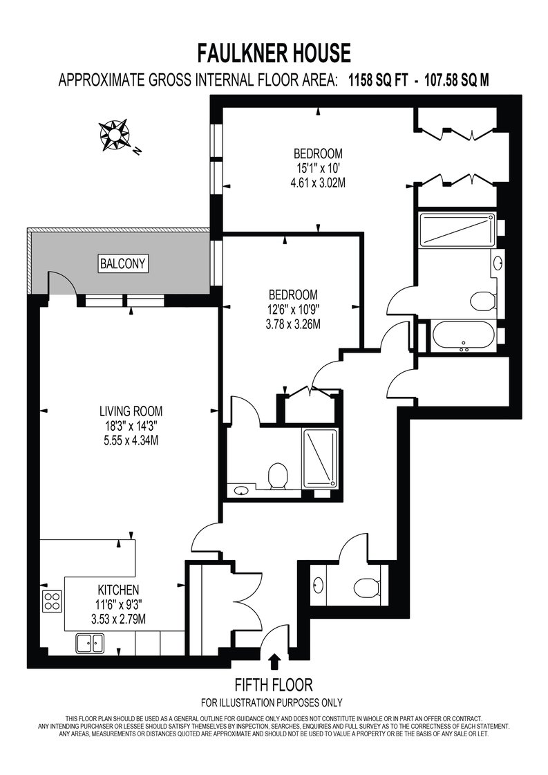 2 bedroom(s) apartment to sale in Faulkner House, Fulham Reach, Hammersmith-Floorplan