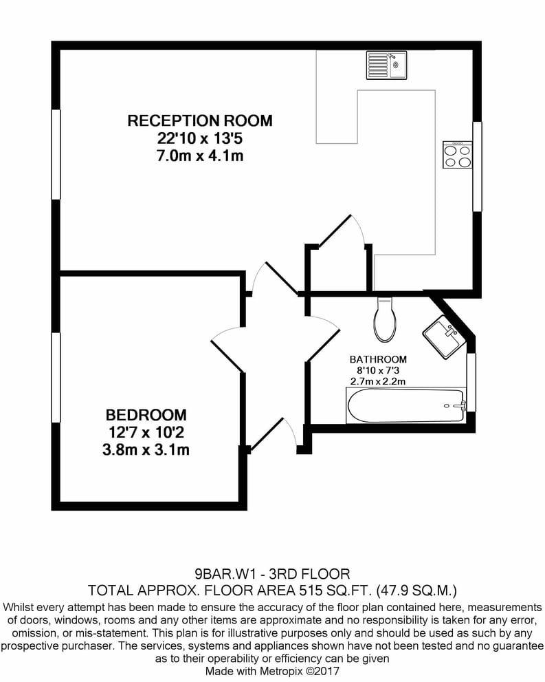 1 bedroom(s) apartment to sale in Avery Row, Mayfair-Floorplan