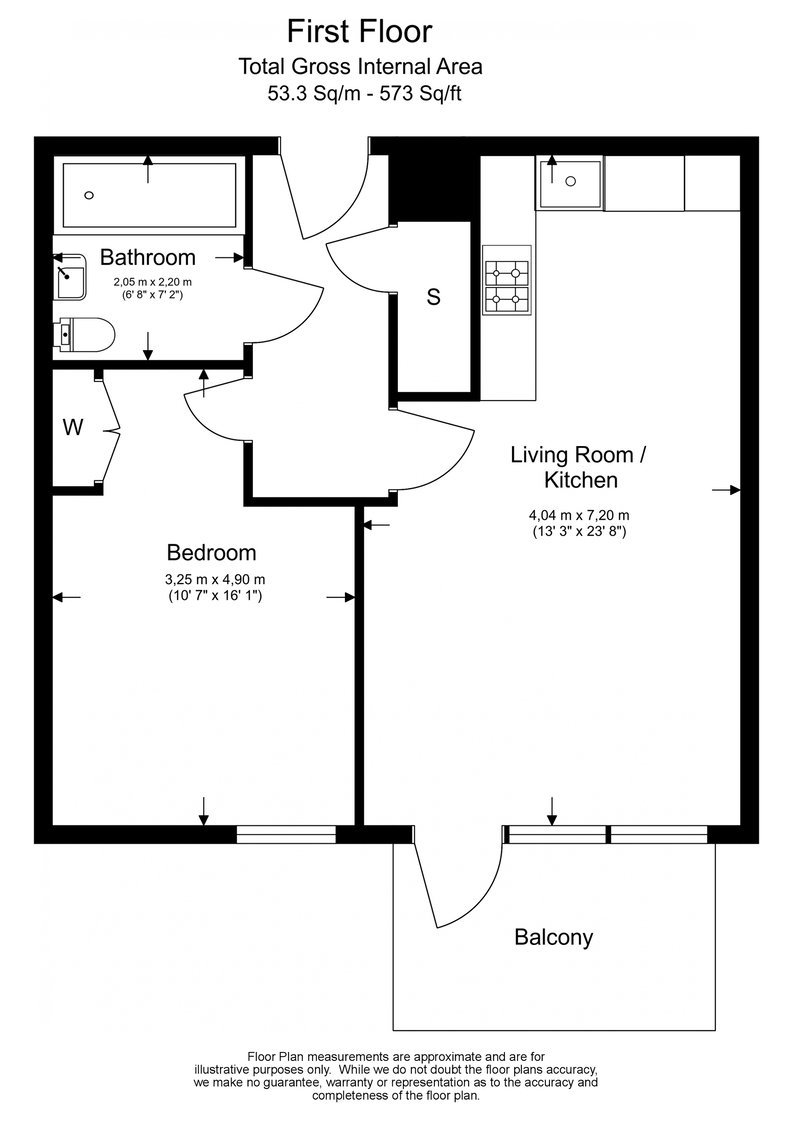 1 bedroom(s) apartment to sale in Aurora Point, 2 Winchester Square , London-Floorplan
